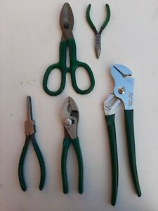 Mixed Set Of Sk 6 Piece General Purpose Pliers And Snippers Mixed New And Used