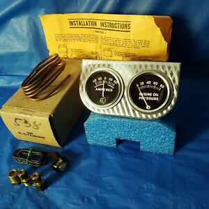 Nos Vintage Dixco Dual Gauge Set 102 f Hot Rod Muscle Car Rat Truck Gauges Nib