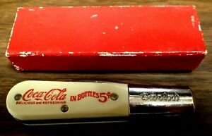 Vintage Colonial Prov. USA Barlow 2 Blade Knife Coca Cola Advertising