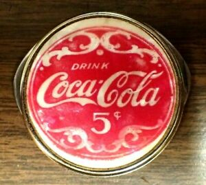 Vintage Drink Coca Cola 5 cent Advertising Round 2 Blade Knife