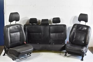 2004 2008 Subaru Forester Xt Seat Seats Black Leather Set Front