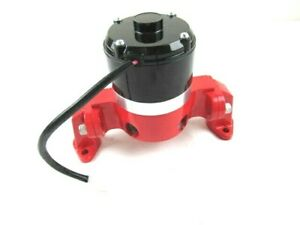 Sbc 350 383 Chevy Aluminum High Flow 12v Electric Water Pump Red Bpk 1107r