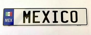 Mexico European Style Metal License Plate