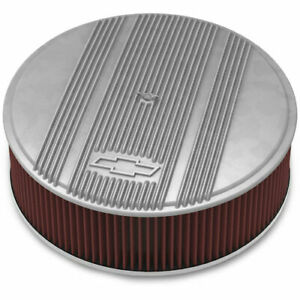 Holley 120 171 Officially Licensed Chevy Bowtie Vintage Finned Air Cleaner Assem