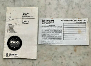 Horizon DS45 Digital Depth Sounder Owner's Manual & Warranty Card 1992
