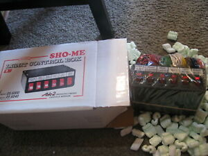 New Vintage Police Security Sho me Light Control Box 6 Position 05 6000