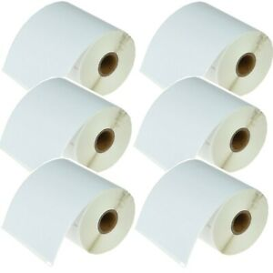 6 Roll 220 Shipping Address Labels Permanent For Dymo 4xl Printer 1744907 White