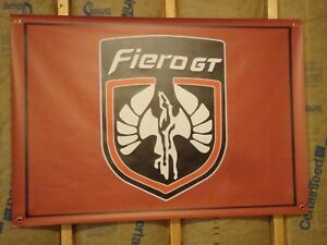 Pontiac Fiero Large Banner Pontiac Red Poster Man Cave Flag