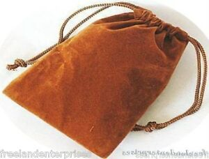 Jewelry Pouch Velour velvet Type Pouch Lot Of 5 Gold copper Color