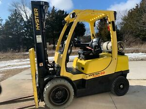 2013 Hyster H50ft 5000lb Pneumatic Forklift Lpg Lift Truck With Low Hrs