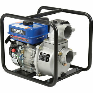 7hp Portable Gasoline Water Pump 3 Intake outlet