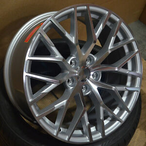 20 R8 Style Machined Silver Wheels Fits Audi A4 S4 Q5
