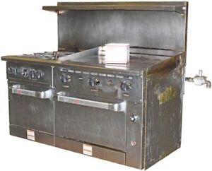 Wolf C60ss 4b36gn 4 Burner 2 Oven 36 Manual Griddle Natrl Gas Restaurant Range