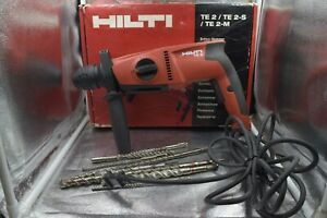 Hilti Te 2 Corded Rotary Hammer With 8 Hilti Hammer Drill Bits