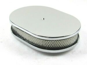 12 Oval Smooth Top Air Cleaner W Filter Element Chrome E40034c