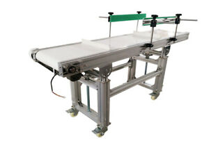Intbuying Flat Conveyor System For Boottle parts Transporting With Baffle 59 11
