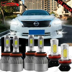 H9 H11 Led Headlights Hi lo H11 Fog Lights Combo For Nissan Altima 2007 2017