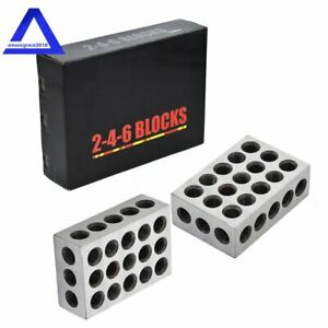 2 4 6 Blocks 23 Holes Matched Pair Ultra Precision 0002 Machinist 246 Jig