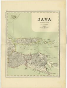 Antique Map Of East Java By Dornseiffen 1900