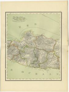 Antique Map Of Central Java By Dornseiffen 1900