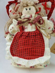 1997 Your My Angel Primitive Country Shelf Sitter 7 Angel Doll Rustic Nwt