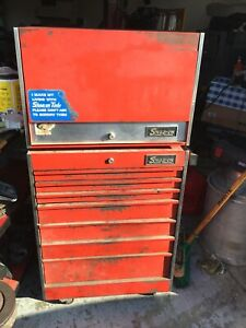 Snap On Tool Box Top And Bottom Roll Away Vintage