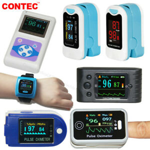 Fingertip Pulse Oximeter Spo2 Blood Oxygen Heart Rate Monitor Nibp Ecg Software