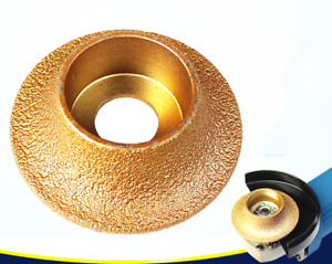 New 1pc 74x20x20mm Bullnose Diamond Profile Wheel For Angle Grinder