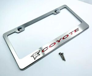 License Plate Frame For Coyote Mustang 5 0 W Red Carbon Fiber premium