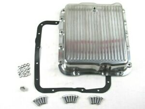 Aluminum Gm Chevy 700r4 Or 4l60 Finned Transmission Oil Pan Polished E45303p