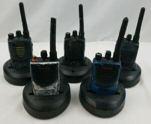 Motorola 16 Channel Mag One Bpr40 Uhf Two Way Radio Lot Of 5 works 2 New Batt