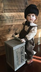 Vintage 1994 Franklin Mint Heirloom Danny Coca-Cola Doll With Scooter Exc In Box