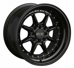 16x8 Xxr 002 5 4x100 114 3 0 Black Wheels set Of 4