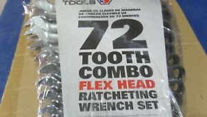 Matco Tools 16 Piece 72 Tooth Metric Combination Ratcheting Wrench Set S7grfm16
