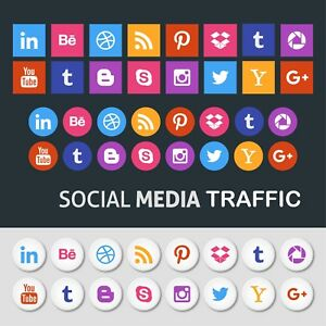 Unlimited Visitors From Popular Social Platforms To Your Website For 1 Month