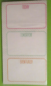Today Tomorrow Eventually Magnetic Sm Paper Pad 7 5x3 4 60 Sheets Pink Green