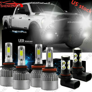 9005 H11 9145 For 2011 2017 Ram 1500 Led Headlight High Low Beam Fog Lamps Fit