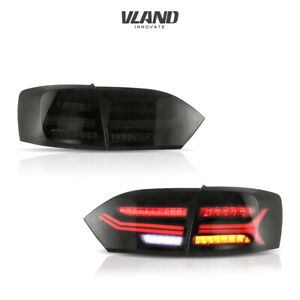 Led Tail Lights For Volkswagen Jetta 2011 2014 Smoked Rear Light Assembly
