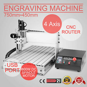 4 Axis Usb Cnc Router Engraver Engraving Cutter 6040t Artwork Machine Drilling