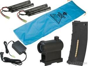 Evike quot;Go Airsoftquot; Base Essentials AEG Starter Package M4 9.6 Butterfly $109.99