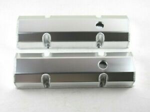 Chevy Sbc 327 350 383 Fabricated Tall Valve Cover Clear Anodized Bpe 2303ca