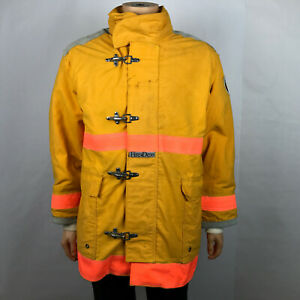 Firefighters Coat Fire dex Jacket Yellow Nomex Iii A Meta Aramid Liner Lg Large