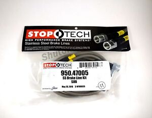 Stoptech Ss Stainless Steel Front Brake Lines For 00 09 Subaru Legacy