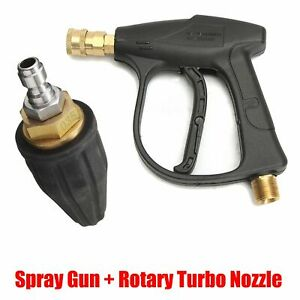M22 High Pressure Spray Washer Gun Water Jet Lance Rotating Turbo Nozzle Tip