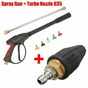 Multi angle 3000psi High Pressure Washer Spray Gun Rotary Turbo Nozzle Tip