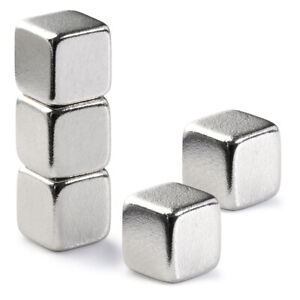 Very Strong 5mm Cube Neodymium Magnets 1 1kg Pull Rare Earth Block Magnetic N42