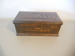 Vintage Wood Wooden Storage Box Chest With Removable Tray