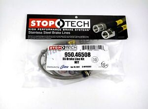 Stoptech Ss Stainless Steel Rear Brake Lines For 08 13 Mitsu Lancer Evo X 10