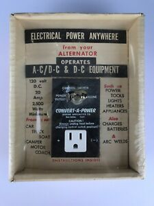 Vintage Convert a power Auto Accessory Ac Power Outlet From Alternator Ford 1963