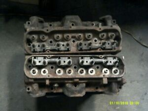 Oem 1973 Pontiac Grand Am 400 455 4x Cylinder Heads Pair 1h And F203